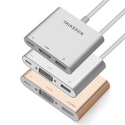 Type-C converter, USB, apple computer accessories, MacBook cable, VGA adapter, HDMI lightning interface