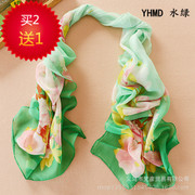Female Sun shawl small peonies in the spring long Korean version of the spring and autumn garden scarf scarves women wholesale