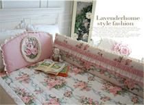 Korea purchasing stereo fungus flowers Roses baby pink flounce fold surrounding the bed mattress bedding