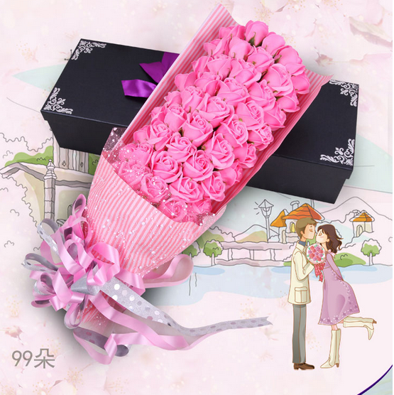 Profession artifact romantic rose soap flower gift box creative valentine's day gift for men and women friends birthday gift