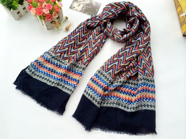 2014 and the wind F wave pattern printed Scarf Shawl selling female end of a single foreign trade