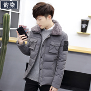 2016 new winter coat young Korean men thick short jacket male students slim cotton padded tide