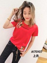 Special Ou Han station 2017 summer New South Korean women's T-shirt jacket SANER170107