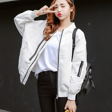 The 2017 summer fashionable college baseball uniform female Korean students loose wind autumn leisure jacket