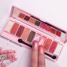 Double color palette durable waterproof not dizzydo earth red grapefruit peach color makeup makeup wine nude make-up Pearl