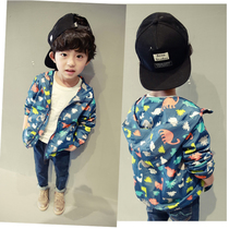 Boys  spring and autumn coat childrens cartoon animation Andes out Jersey 2017 autumn in the new big boy cardigan sweater