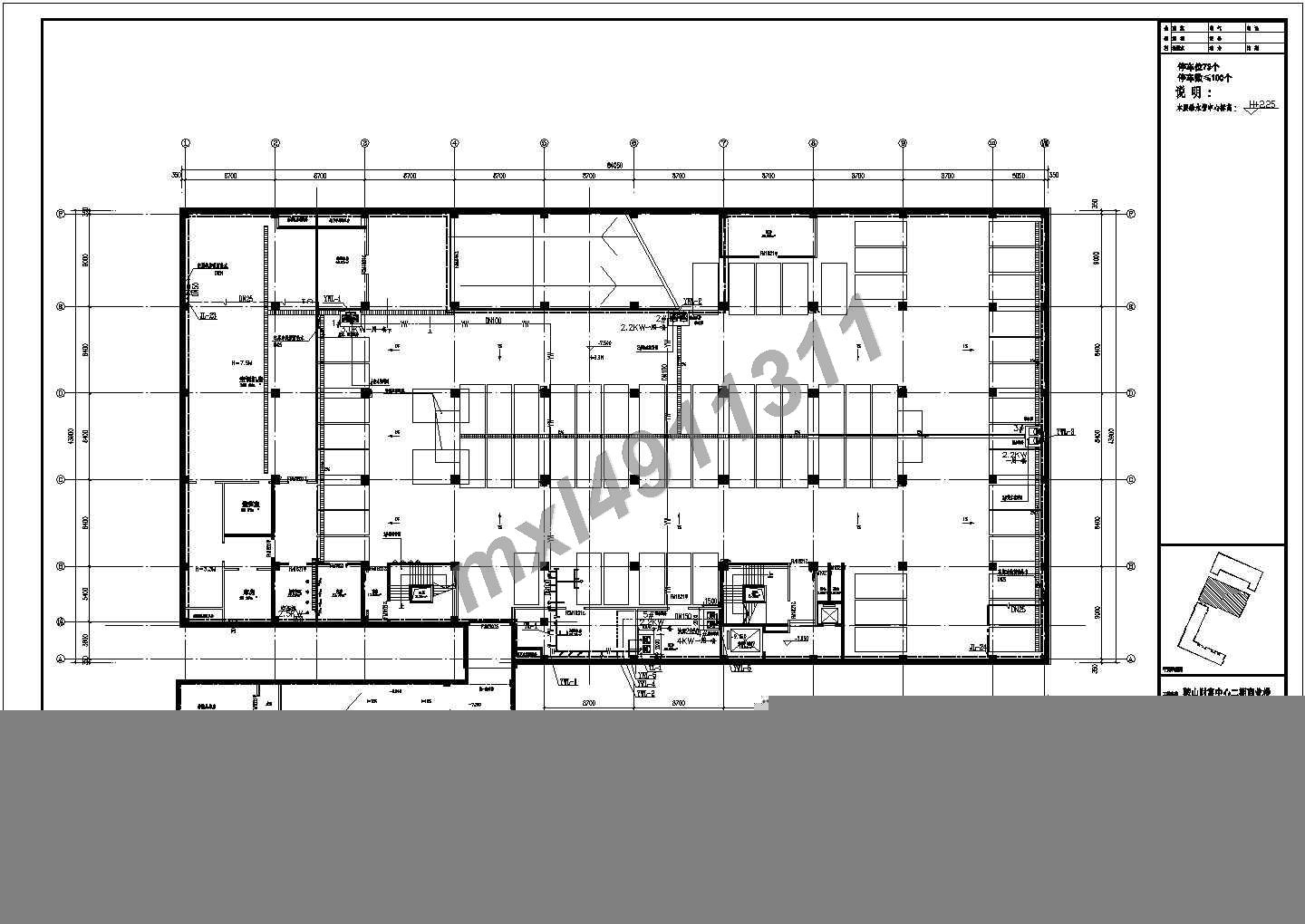 Liaoning province in four layers of commercial complex interior water supply water supply and drainage construction cad figure drainage DWG drawing