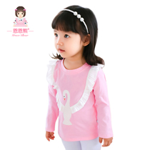 Kids long sleeve t-shirt spring clothes children jacket girls baby t-shirt end of spring and autumn the new 2017 0 baby girls shirts
