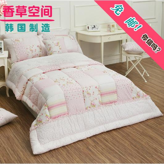 韩国代购进口家纺床上用品四件套全棉纯棉60支双人艾琳1.5米床