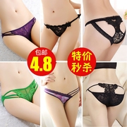 A special offer low waist underwear female super sexy lace fabric thin transparent underwear shopkeeper real temptation