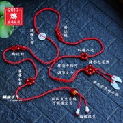 Year of fate red rope natural red agate jade belt chicken red red waist belt: evil men and women