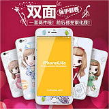 Apple 6 tempered film before and after the membrane film 4.7 full-screen arc 6s mobile phone film iphone6 ​​tempered film female Meng