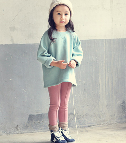 Korean girl pants with fresh cotton cashmere candy color Leggings wear elastic pants female feet