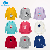 Les Enphants clothes boys long sleeve casual versatile sweater long sleeve t-shirt for children color fall 2016