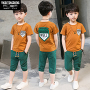 3 children 5 boys summer suit 2017 new summer 6 children 7 boys 8 short sleeved 9 two piece 13 years 11