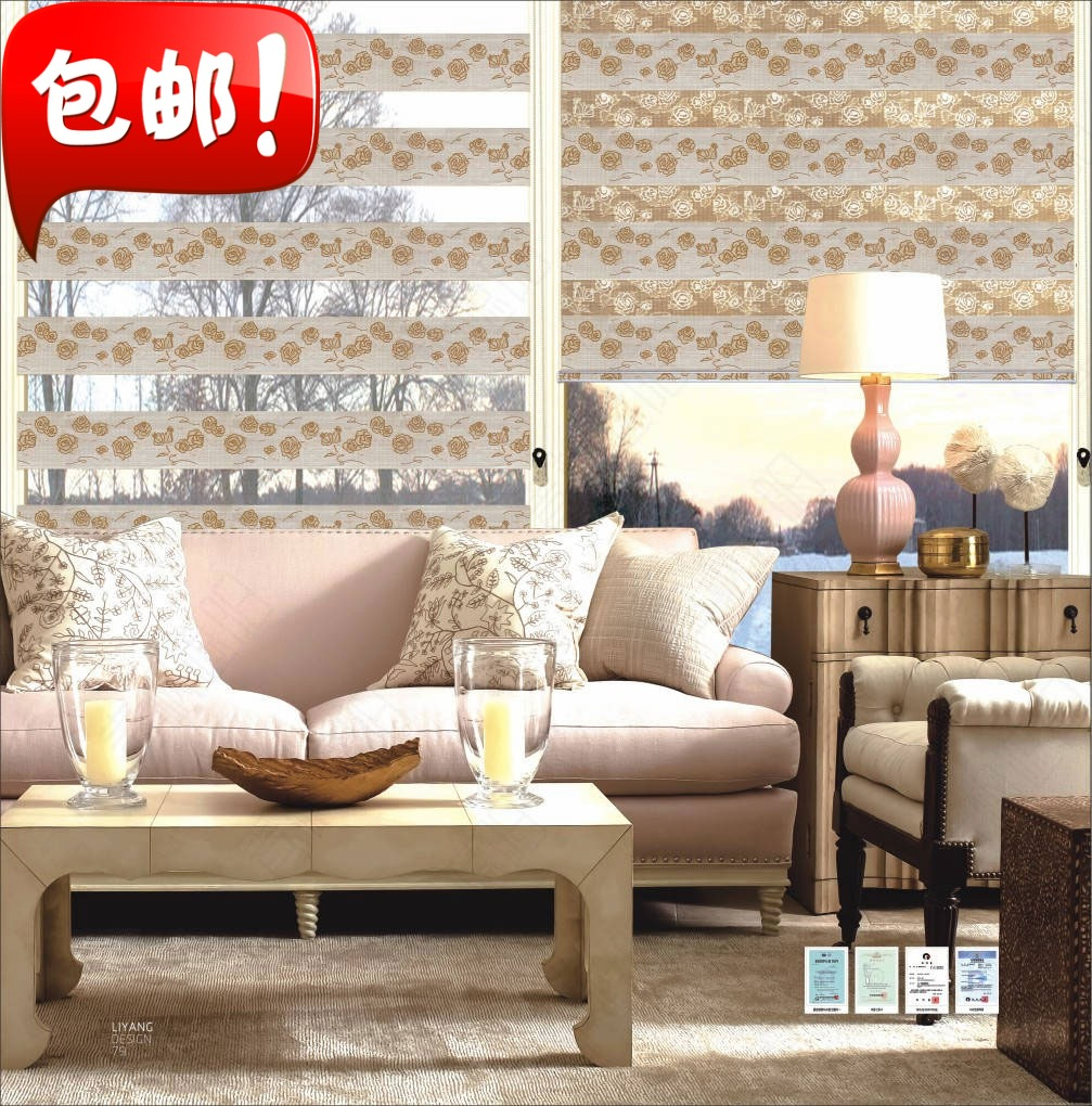 Soft curtains Shutter curtain double shade factory outlet bedroom balcony bathroom in the Office Customization