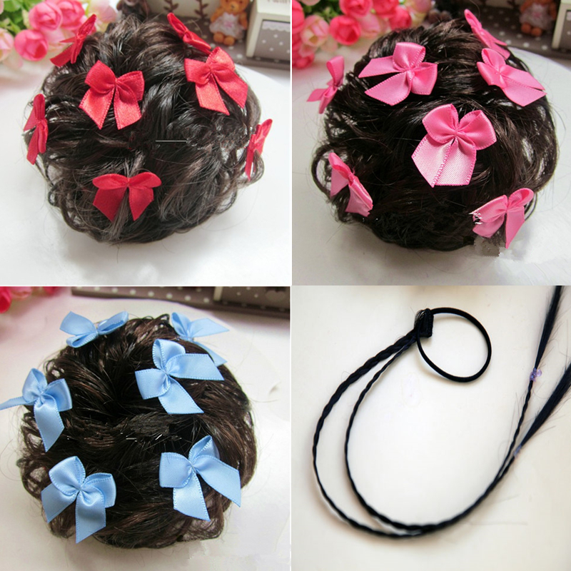 The little girl girl children hair headdress folk style hair wig wig head bract bract 1 braids on the price