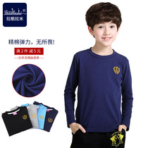 Children wear boys play shirts at the end of the spring and autumn wear thin child crewneck t shirt small in large elastic Baby Long Sleeve Tops