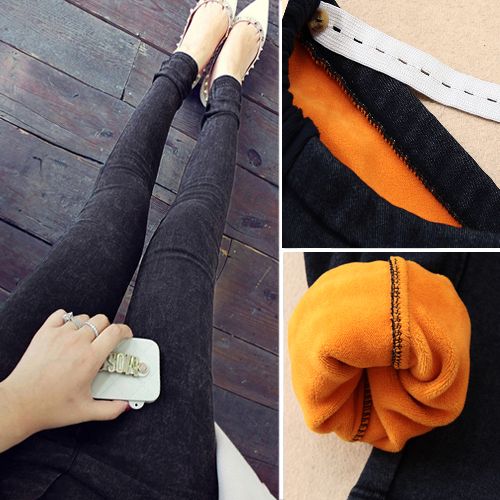 More pregnant women pregnant women jeans trousers trousers qiu dong with and pile foot trousers pencil pants abdomen trousers gold velvet