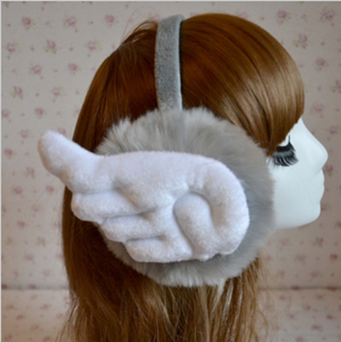 The new autumn/winter earmuffs imitation rabbit fur earmuffs winter fashion ear warm lovely warm wings ear wu men and women with men and women