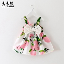 Girls sundresses for summer strap dress age 0-1-2-3 baby child childrens cartoon princess dress