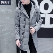 2016 new men's winter coat in the Long Coat Jacket Boys personality Metrosexual a Korean men's cotton