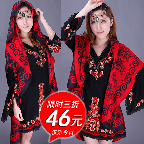 Scarf, shawl and long thick summer Russia large shawl wool shawl female qiu dong Nepal national air conditioning