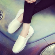 2016 spring and summer white shoes. Tidal flat casual shoes pedal lazy loafer white shoes