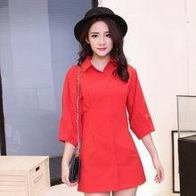 According to IEF/ service in the autumn of 2016 new seven polo collar in the long sleeve shirt all-match slim female cardigan in autumn