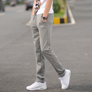 Spring and summer sports pants pants men's casual pants students all-match Korean loose thin size Guardian pants slim