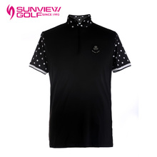 SVG is about the summer Golf Apparel Mens Golf T-shirt collar stretch