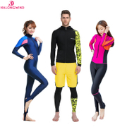 2017 anti submarine diving suit, conjoined sunscreen clothing, split body long sleeved swimsuit, boys and girls