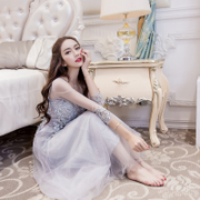 Hongkong purchasing new spring and summer new lace embroidery beaded dress skirt length skirt