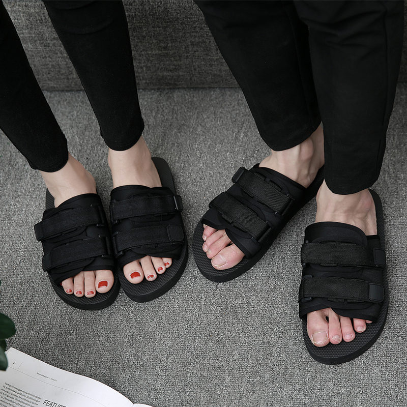 2017 new summer Korean men's slippers, fashion trend word drag indoor and outdoor non slip slippers men