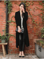 Genuine purchasing high-end wool coat women long for fall winter wool woolen cloth stars with the Korean version of Pearl coat