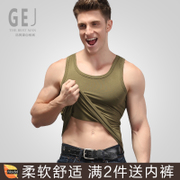 Modal vest summer tide fitness h slim type hurdle stretch tight T-shirt bottoming