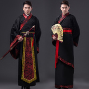 The graduating class of men's clothing costume Hanfu clothing studio photos Shanhaiguan scholar chivalrous martial arts film talent show