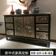 Arts and crafts furniture, new Chinese entrance cabinets, hand-painted decorative cabinets, solid wooden lockers, antique Ming and Qing furniture, painted cabinets