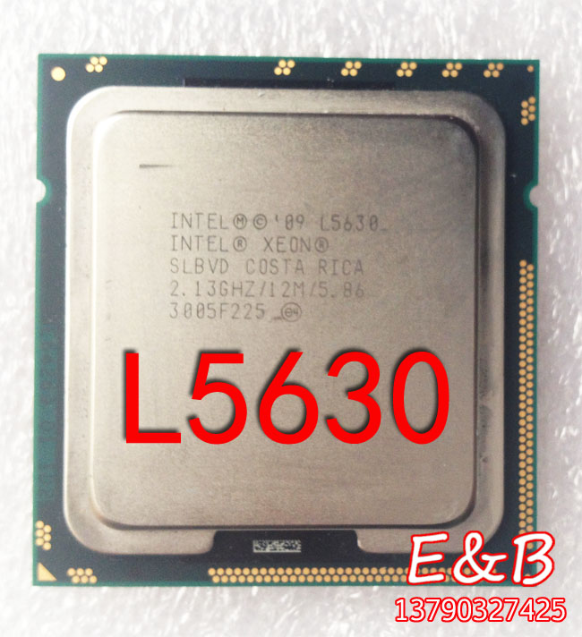 Intel XEON L5630 1366 CPU L5520 x58 motherboard second L5639 X5650