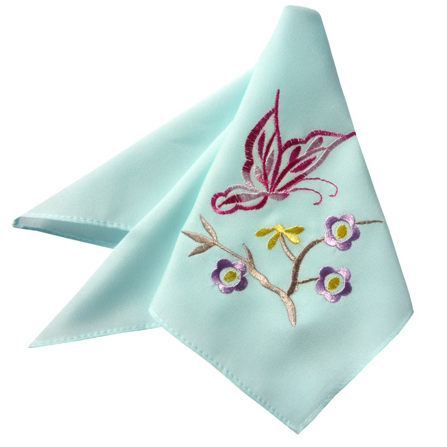 Engagement promise in return The bride silk handkerchief ㊣ red yuanyang embroidery handkerchief to get married