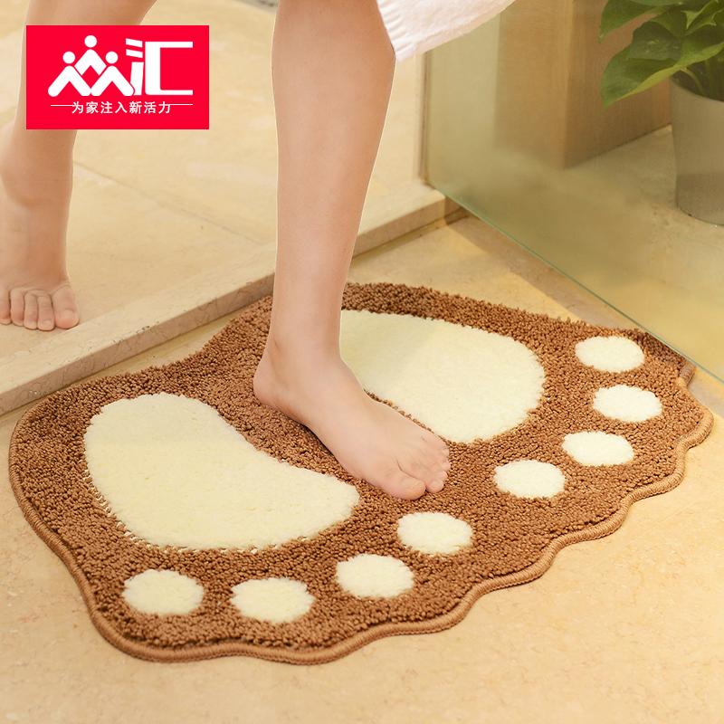 【免费升级】卫生间吸水防滑地垫进门门垫卫浴浴室防滑垫地毯卧室