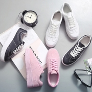 Spring and summer all-match white shoes soled sports shoes lace muffin Korean white shoes casual shoes students