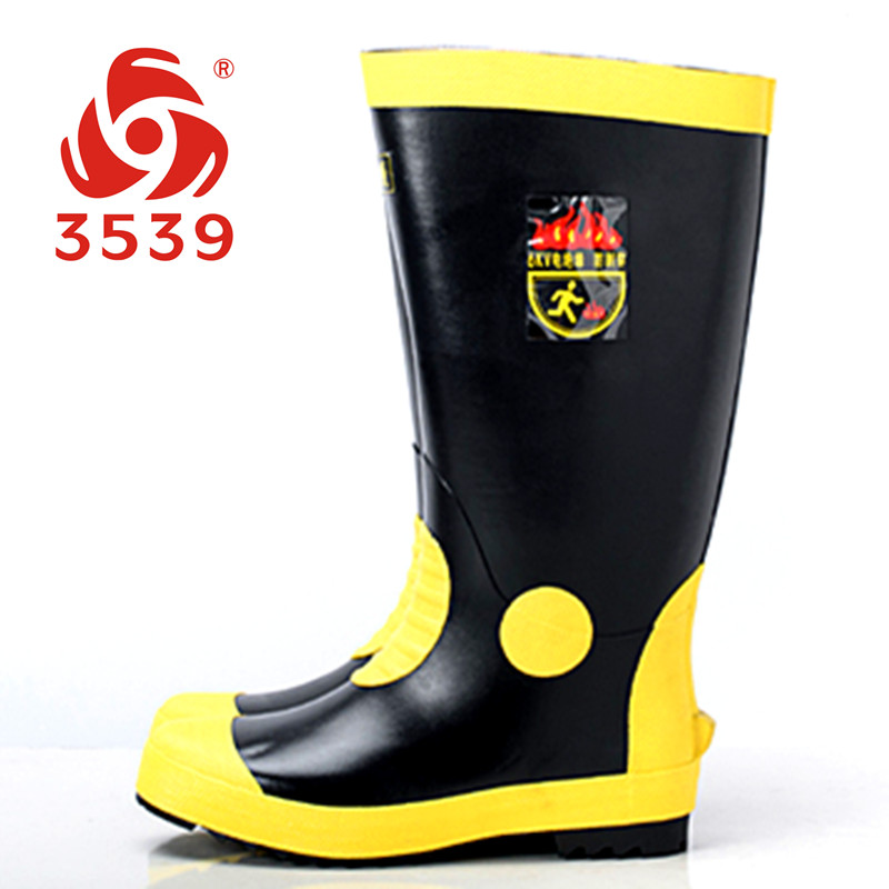 Shipping 6kV insulated rubber boots boots for mine fire rescue work boots for men