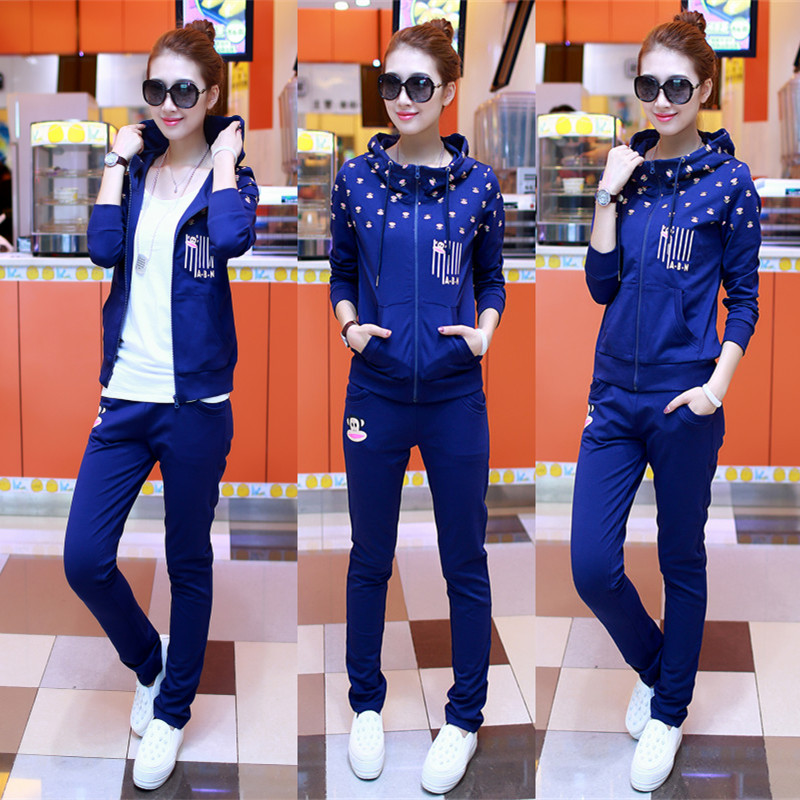 Buy Paul Frank 2015 new set of Hong Kong Korean sport plus size women's clothing leisure suit women Cardigan set