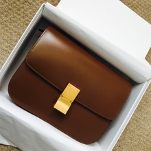 2017 New Retro bean bag box mini small bag leather bag airline stewardess Shoulder Messenger Bag small simple