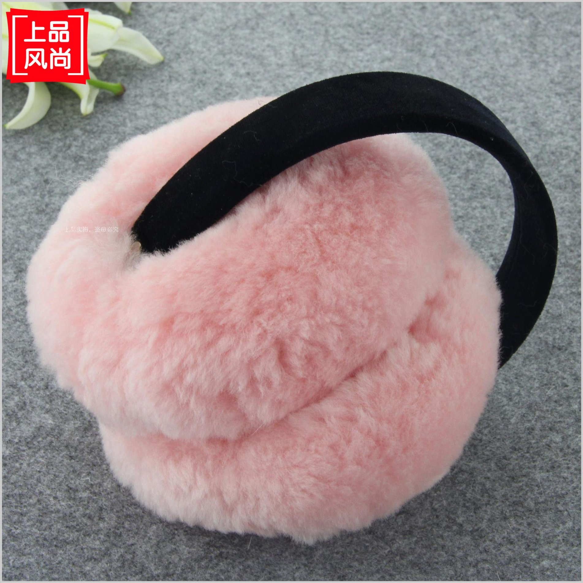 Earmuffs earmuffs real wool fur one super warm men's and women's lovely ear over your warm winter earmuffs folding portable package