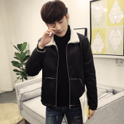 Autumn and winter coat lamb wool cotton men's leather Leather Slim trend of Korean students in the spring of 2016 NEW