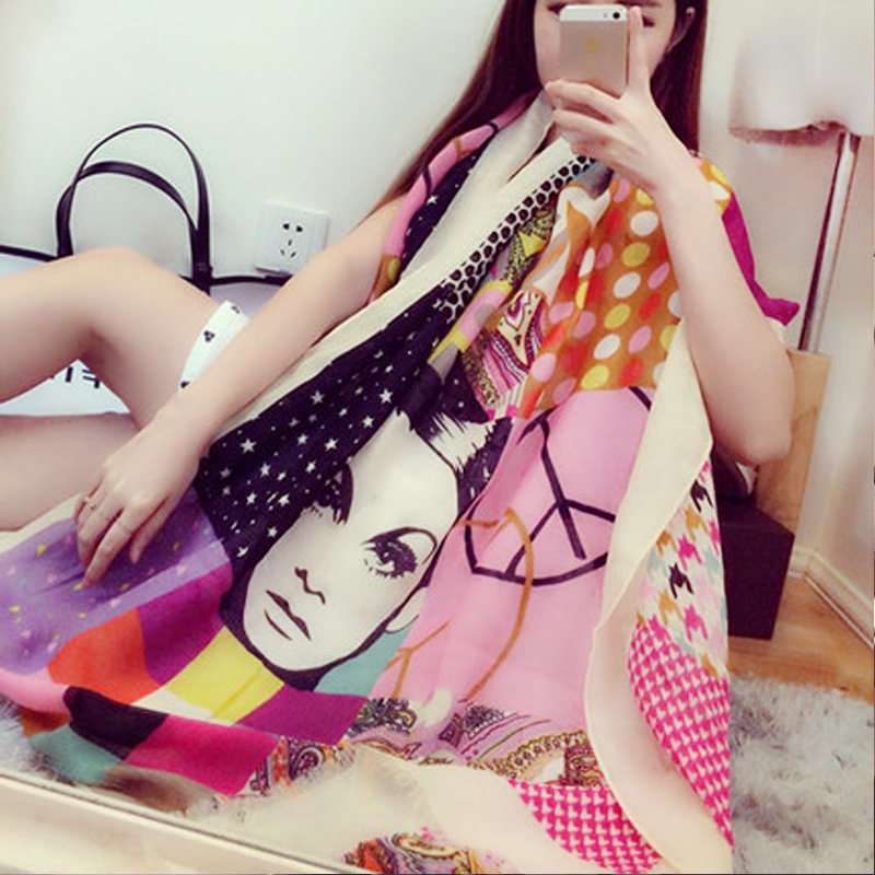 Summer Chiffon Scarf summer beach towel sand beach towel Scarf Shawl scarves thin SPF female air conditioning