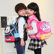 Children's bag 2017 new kindergarten schoolbag girl 1-3-year-old boy cute cartoon double shoulder Bag