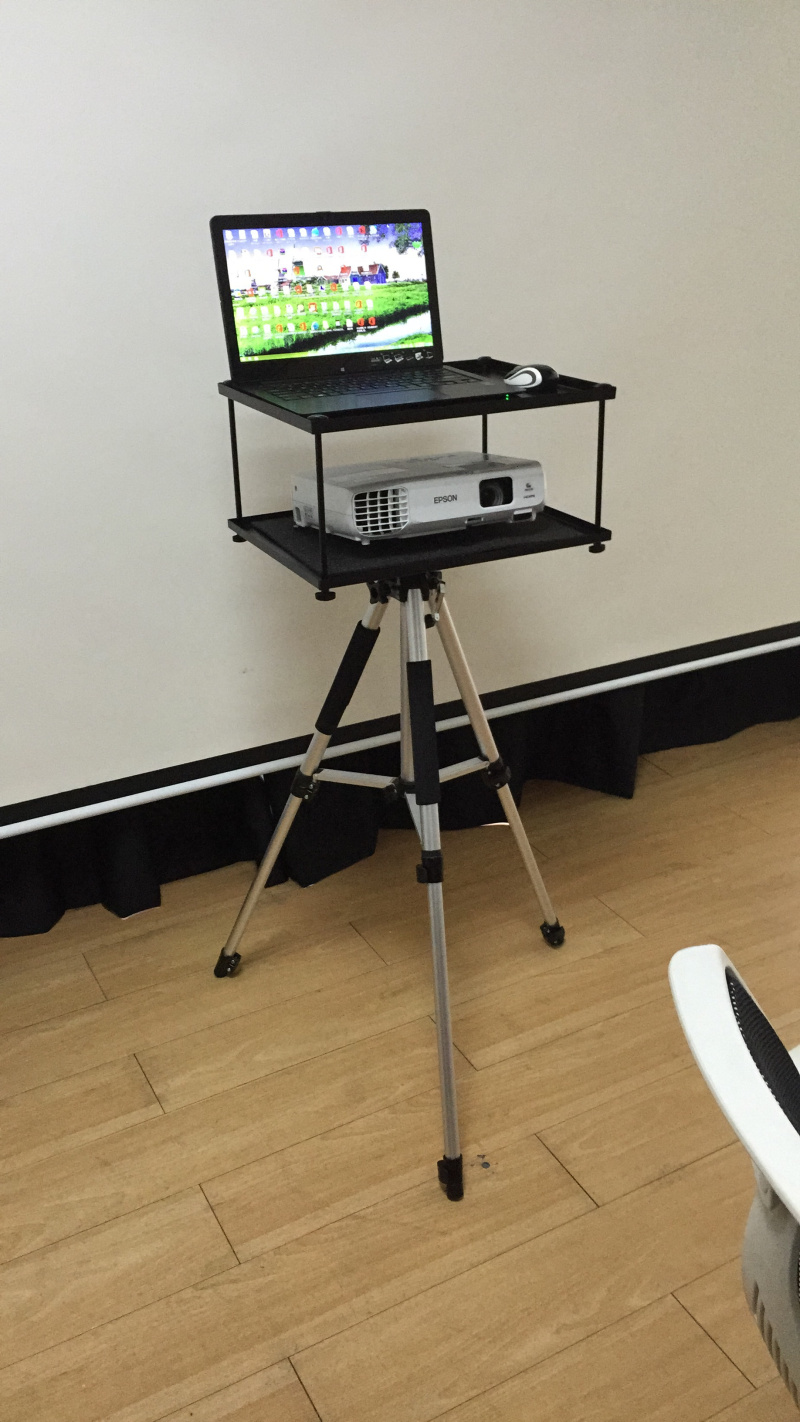 Projector, double layer three stand, projector, three tripod, projection shelf, tripod support, three feet to send bag